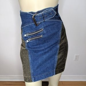 VINTAGE - 80s highwaisted  jean skirt